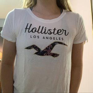 hollister tee with floral bird